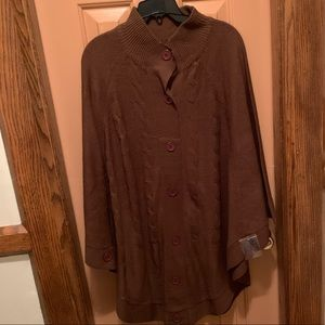 Argee Sweaters - Brown sweater poncho